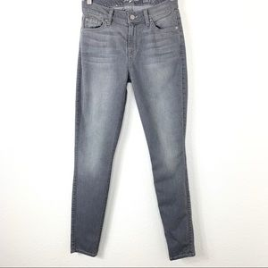 7 For All Mankind The Ankle Skinny Jeans Gray 25